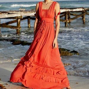 NWOT Free People Santa Maria Maxi Dress